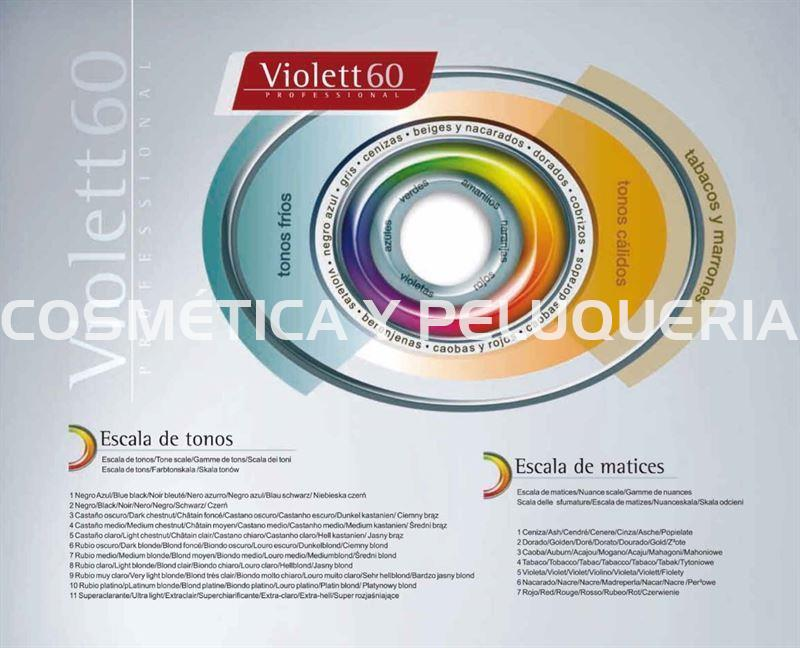 Tinte Violett 60 profesional color 6/12 beige oscuro - Imagen 4